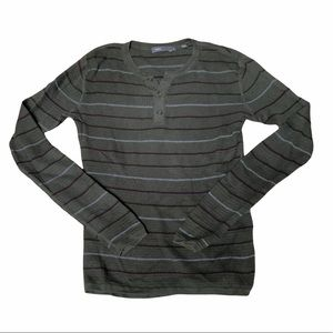 Vince Long Sleeve Henley Size Small